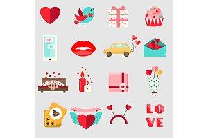 Valentine's day icons. eps+jpg