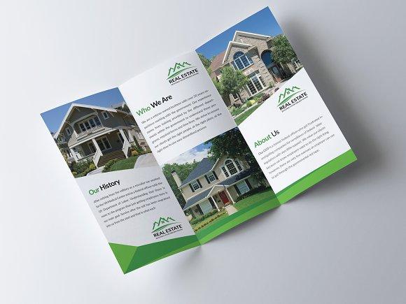 real estate trifold brochure brochure templates creative market