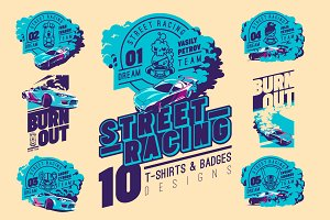 -30% Street Racing T-Shirts Badges