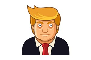 Republican President Cartoon Style