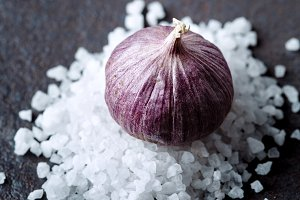 Food background with garlic