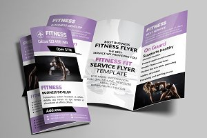Sport Fitness Trifold Brochure