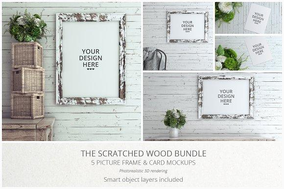 Download Scratched Wood MockUp Bundle