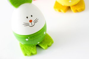 Easter eggs with rabbit shape