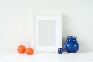 CLEAN! Tangerines and frame mockup