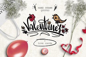 Valentine's day | Cards, lettering