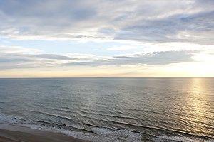 Ocean and sky at sunrise