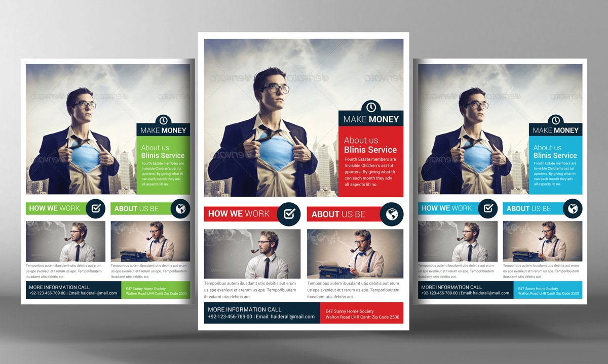 make money flyer template flyer templates creative market. Black Bedroom Furniture Sets. Home Design Ideas