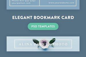Elegant bookmark card