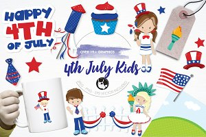 4th of July kids illustration pack