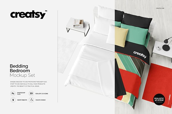 Download Bedding Bedroom Mockup Set