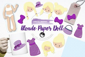 Paper doll illustration pack