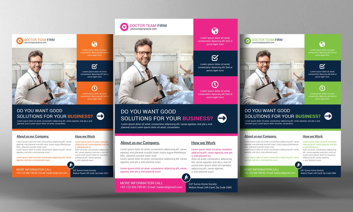 Medical Services Flyer Template Flyer Templates Creative Market – Hospital Flyer Template