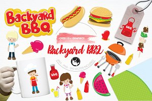Backyard BBQ illustration pack