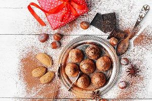 Chocolate truffles balls