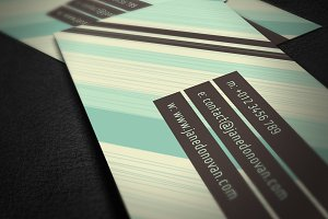 Creative Business Card with Stripes