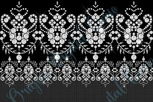 White Diamond Lace Clipart