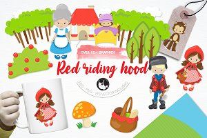 Red riding hood illustration pack