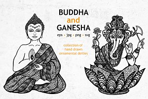Buddha and Ganesha Illustration