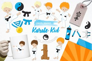 Karate kid illustration pack