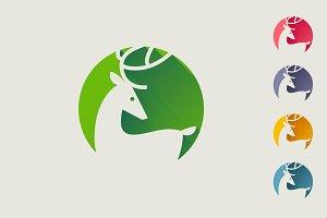Elegant deer flat icon