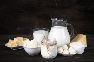 Dairy products selection