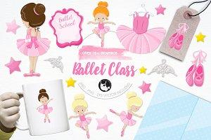 Ballet class illustration pack