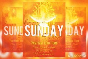 Sunday Sermon Flyer