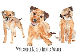 Watercolor Dog Bundle Border Terrier