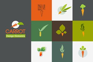 Carrot - Set of logos templates