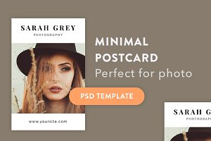 Minimal postcard