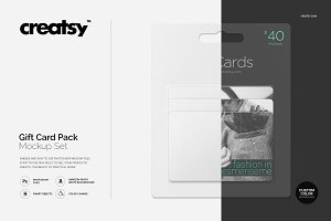 Gift Card Pack Mockup Set