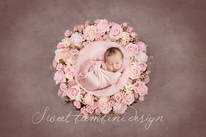 Newborn Photo Digi Backdrop x 4