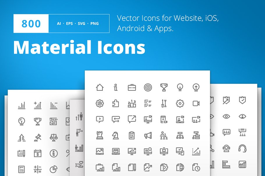 Jumbo Line Icons Pack ~ Icons ~ Creative Market