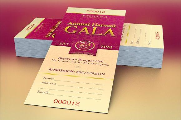 Church Gala Ticket Template Templates Creative Market – Dinner Tickets Template