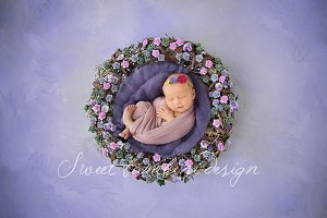 Newborn Photo Digi Backdrop x 2