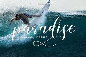 paradise calligraphy modern + Bonus