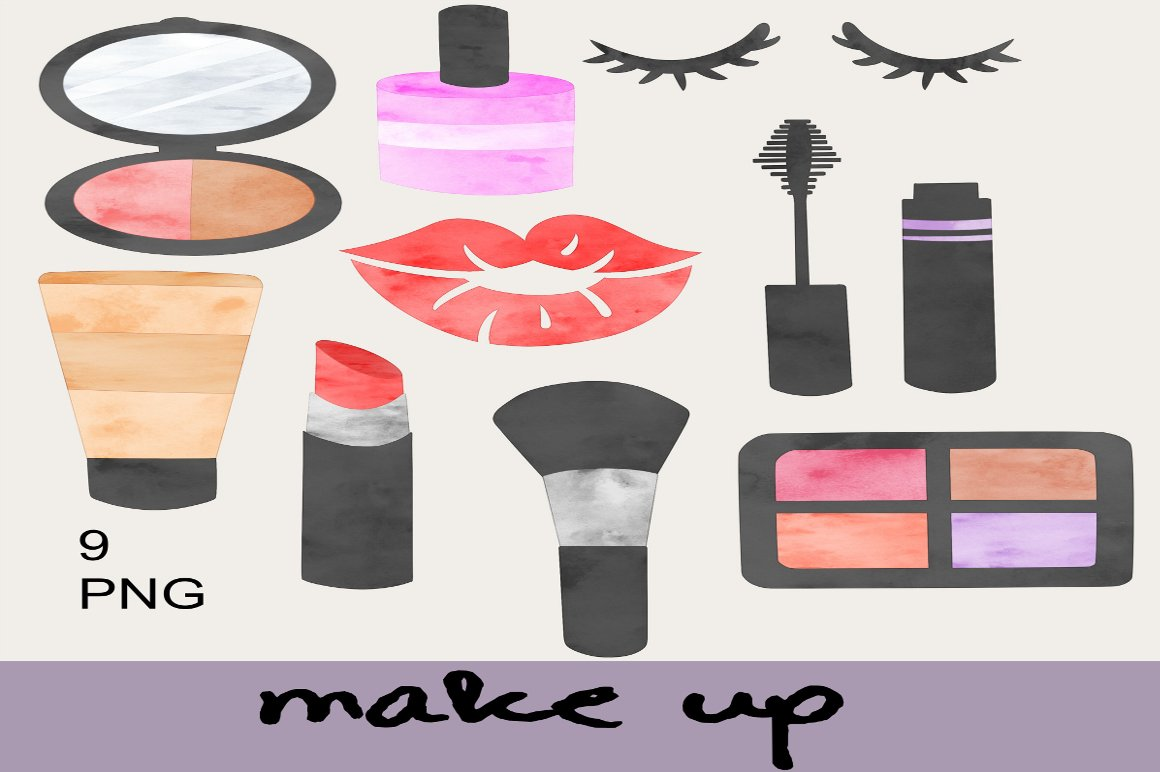Cute Makeup Clip Art ~ Illustrations on Creative Market