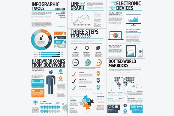 Infographics tools set illustrations creative market gumiabroncs Image collections