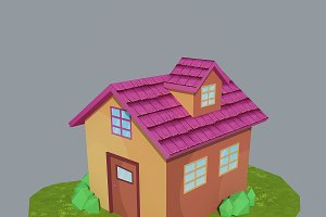 Low Poly House 3