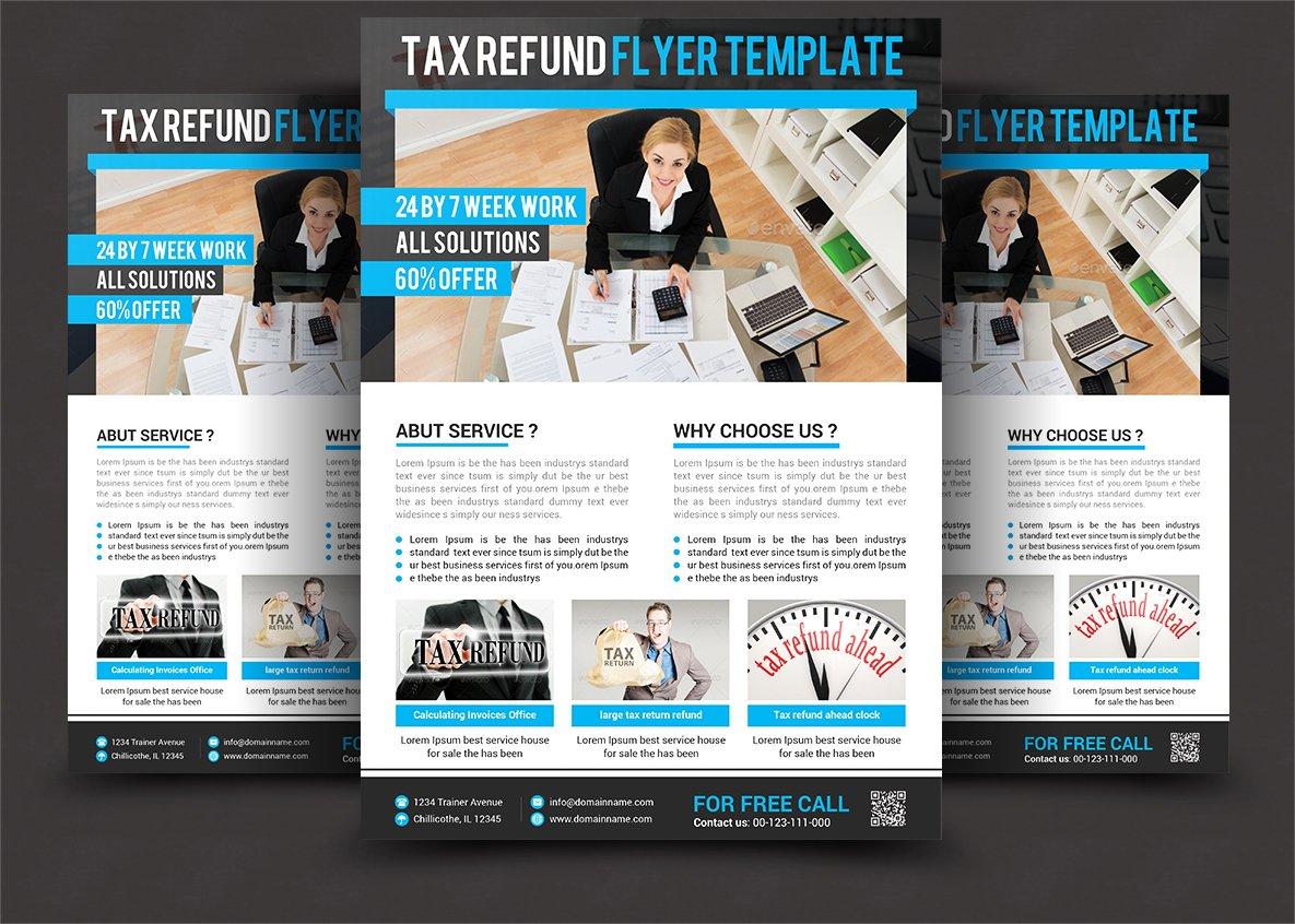 Business tax refund flyer flyer templates creative market fandeluxe Images