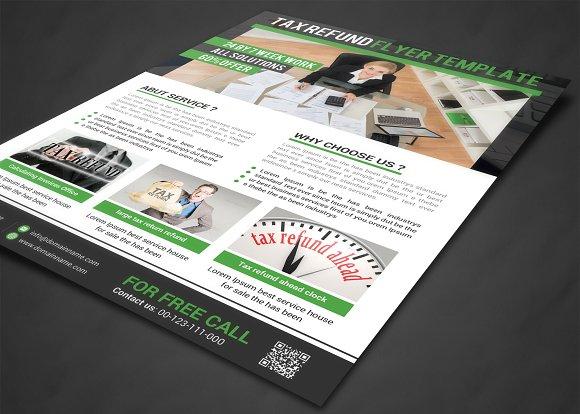 Business tax refund flyer flyer templates creative market fandeluxe Choice Image