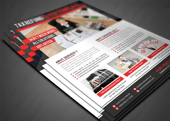 Business tax refund flyer flyer templates creative market fandeluxe Image collections