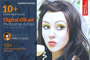 Digital Oil Art Photoshop Action