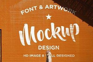 Font & Artwork HD Wall Mockup Design