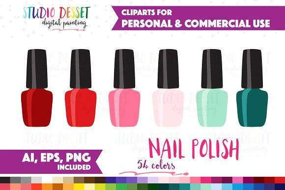 Nail Polish Vector Graphics Illustrations Creative Market