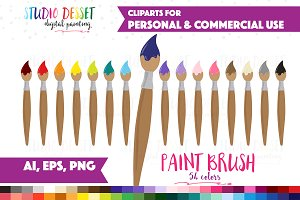 Paint Brush Vector Clipart