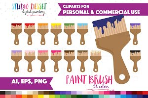 Paint Brush Vector Clip Art