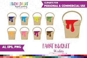Vector Paint Bucket Clipart