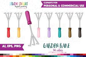 Garden Rake Vector Clipart